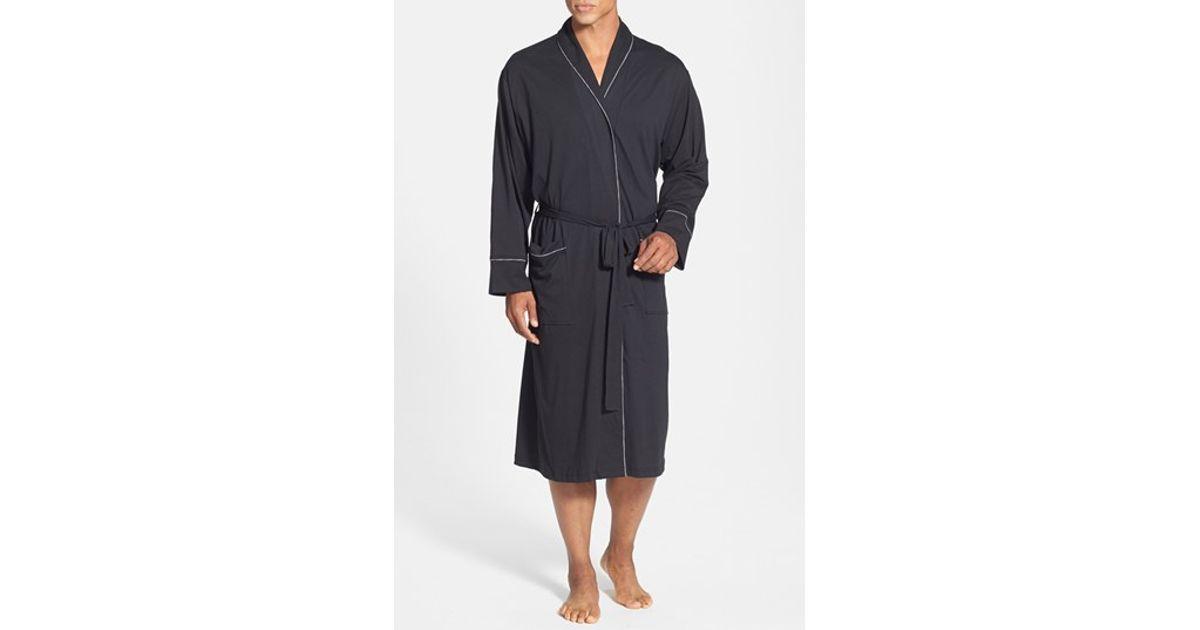 Daniel Buchler Peruvian Pima Cotton Robe In Black For Men
