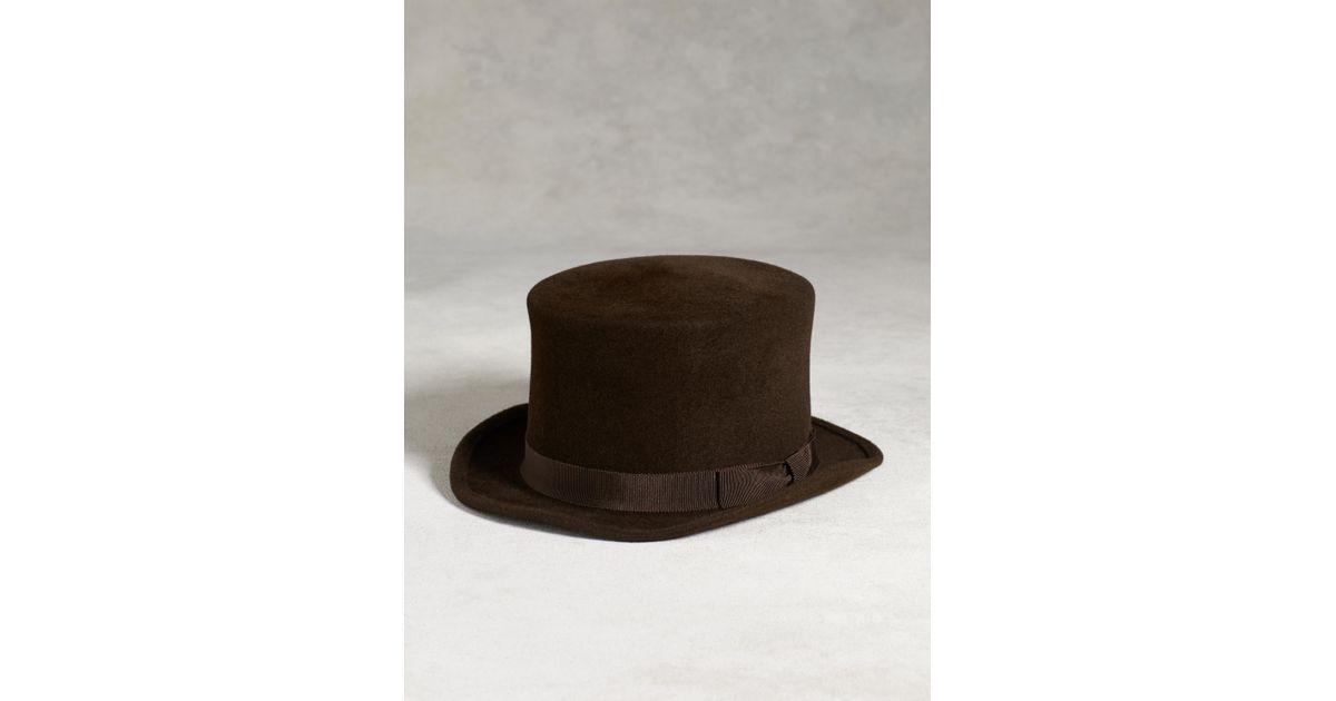 Lyst John Varvatos Ombre Random Feed Knit Hat In Black For Men. Lyst John  Varvatos Rabbit Hair Top Hat In Brown For Men 3afca8277069