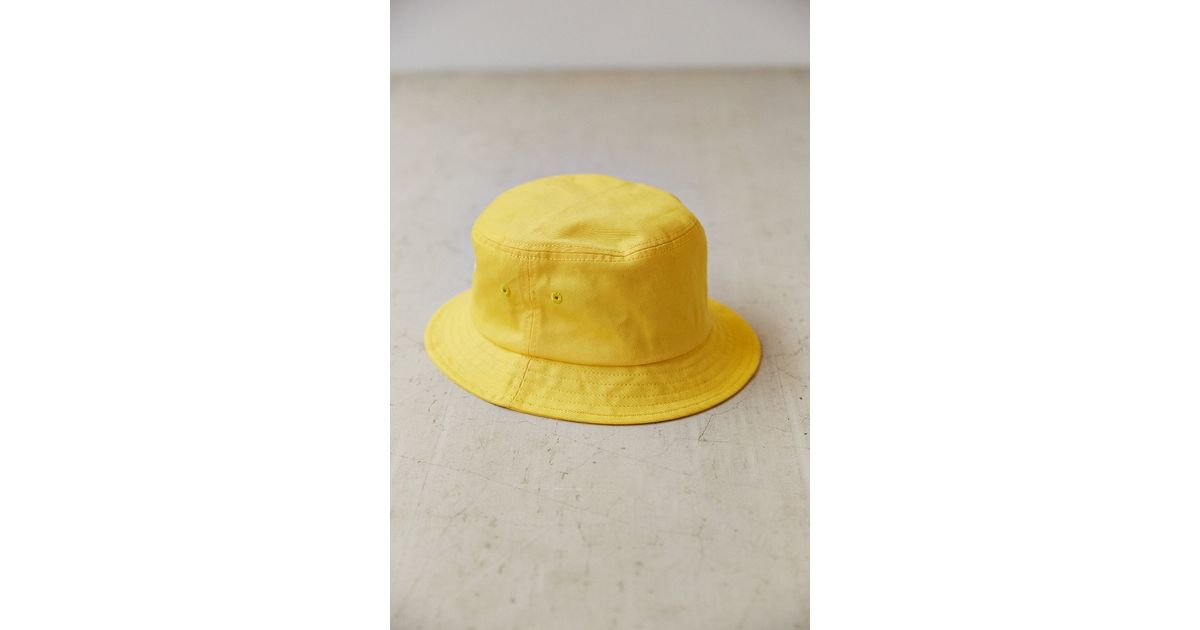 99caf357 Stussy Stock Lock Bucket Hat in Yellow for Men - Lyst