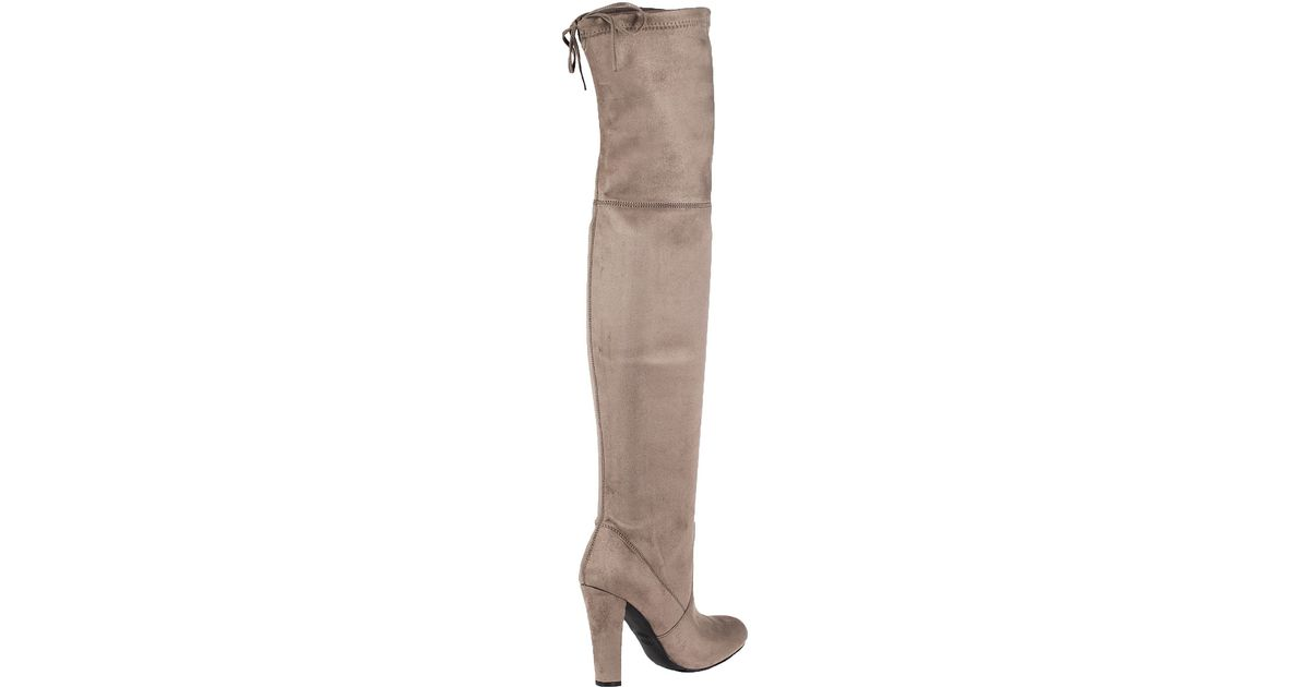 86166353eca Lyst - Steve Madden Gorgeous Suede Over-The-Knee Boots in Brown