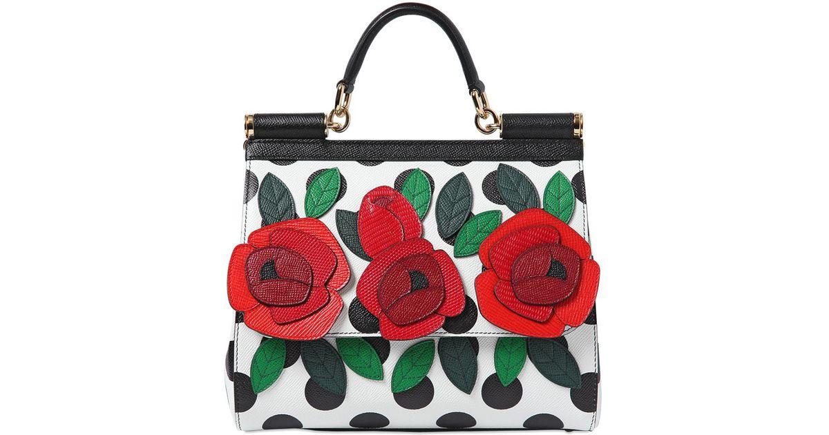 Lyst - Dolce   Gabbana Medium Sicily Dauphine Leather Bag in Black bb89c146ea28a