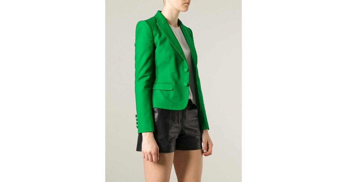 Dolce & gabbana Classic Fitted Blazer in Green | Lyst