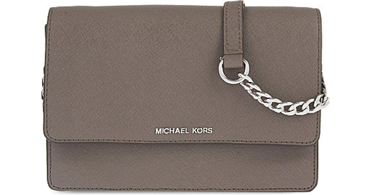 36ca3e4217089 Lyst - MICHAEL Michael Kors Daniela Small Leather Cross-body Bag