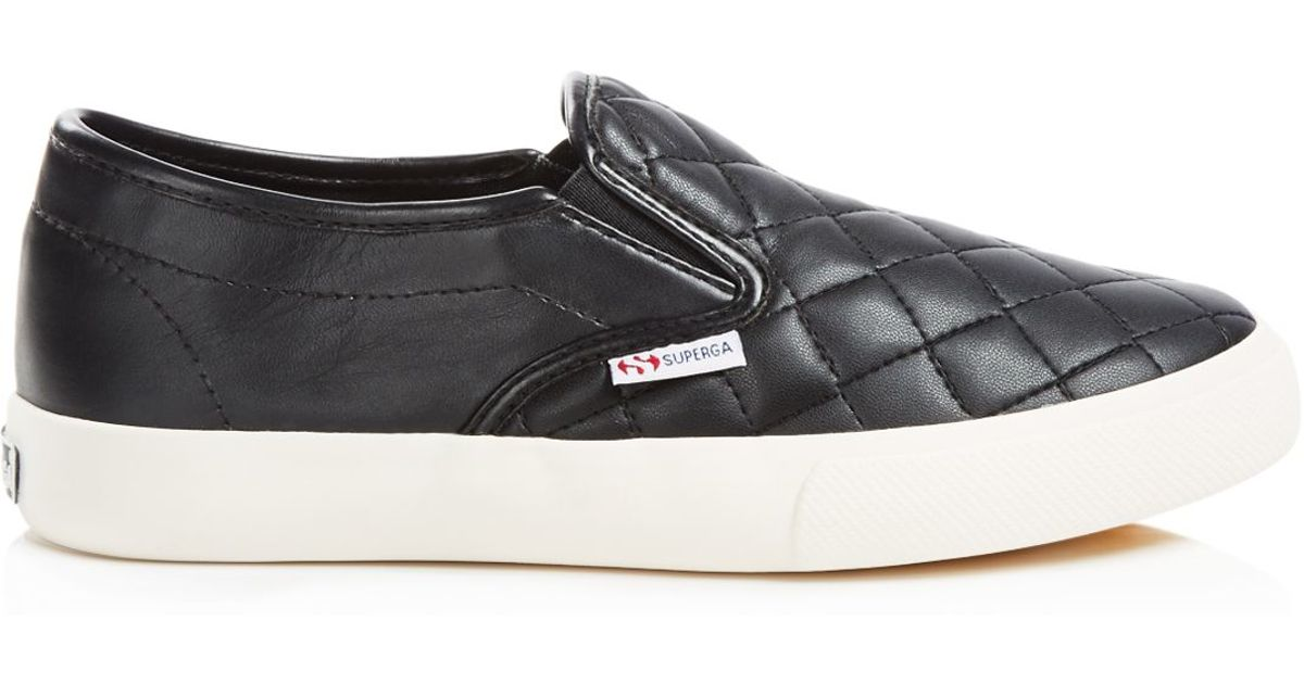 7b21ac699d5648 Superga Quilted Slip On Sneakers in Black for Men - Lyst