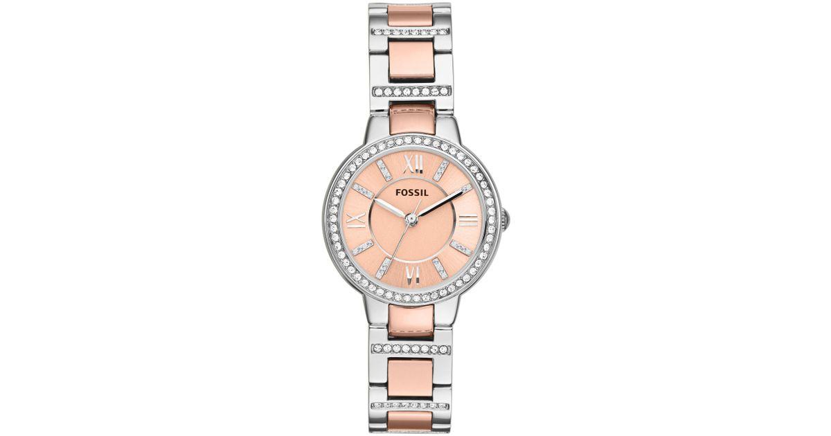fossil es3405 virginia ladies rose gold bracelet watch in. Black Bedroom Furniture Sets. Home Design Ideas