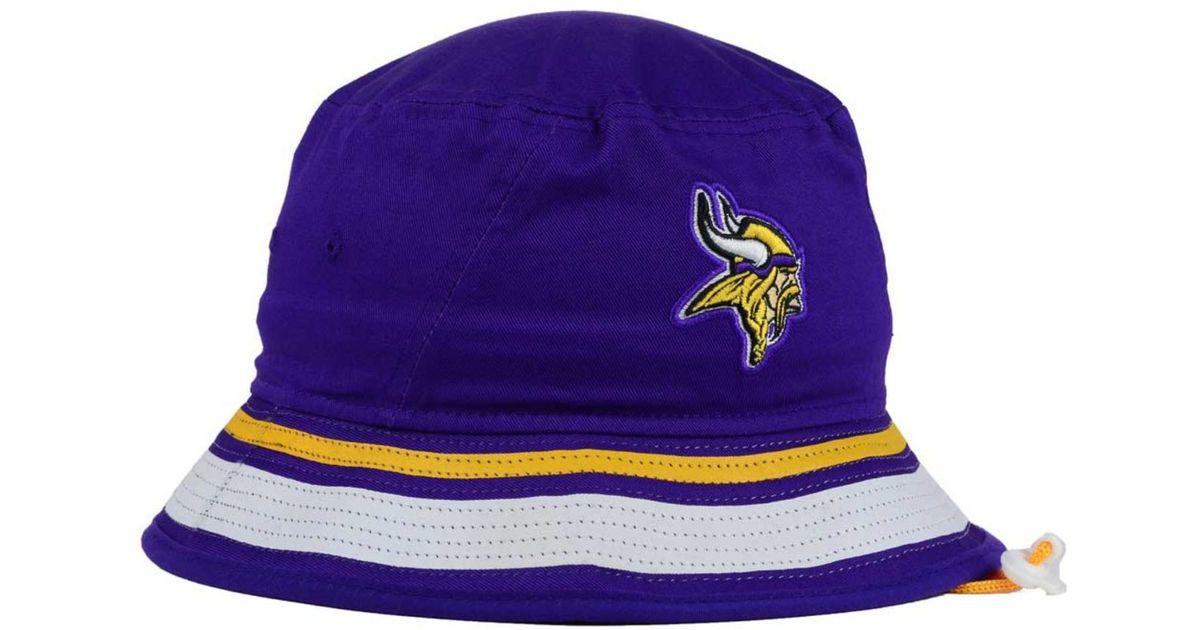 Lyst - KTZ Minnesota Vikings Team Stripe Bucket Hat in Purple for Men 4f567416565