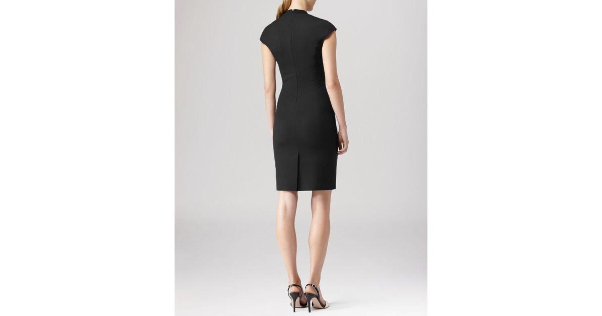 Lyst Reiss Dress Leena Tailored In Black