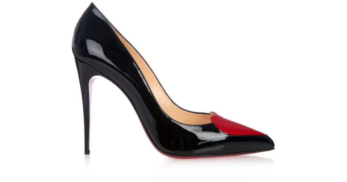 273d31c0c5f Lyst - Christian Louboutin Cora Heart Patent-Leather Heel Pumps in Red
