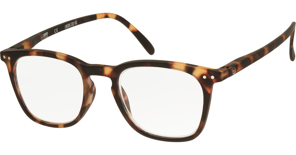 see concept reading glasses e in brown tortoise lyst