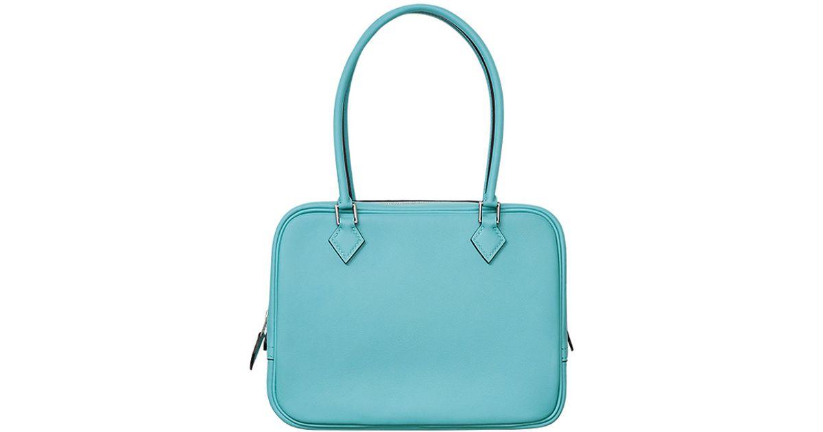 purple handbags cheap - Herm��s Plume 32 in Blue (Saint-Cyr blue) | Lyst
