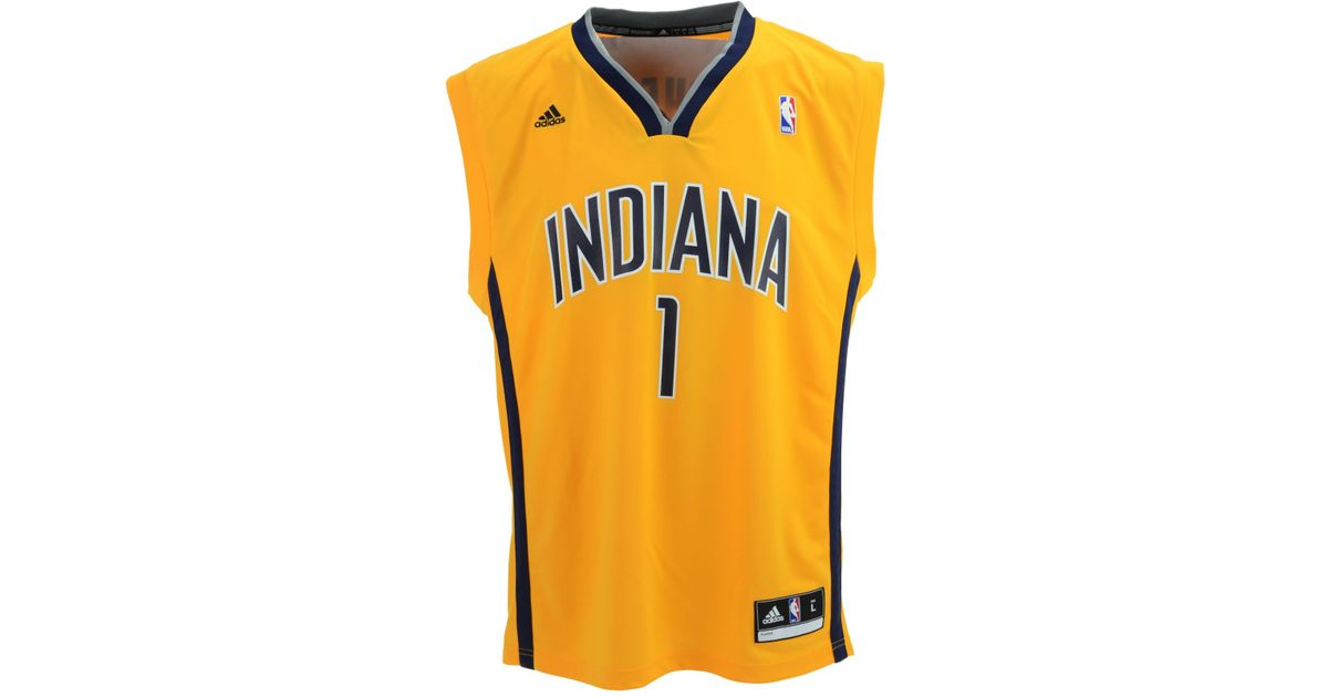ecee6a440 Lyst - Adidas Lance Stephenson Indiana Pacers Rev 30 Replica Jersey in  Metallic for Men