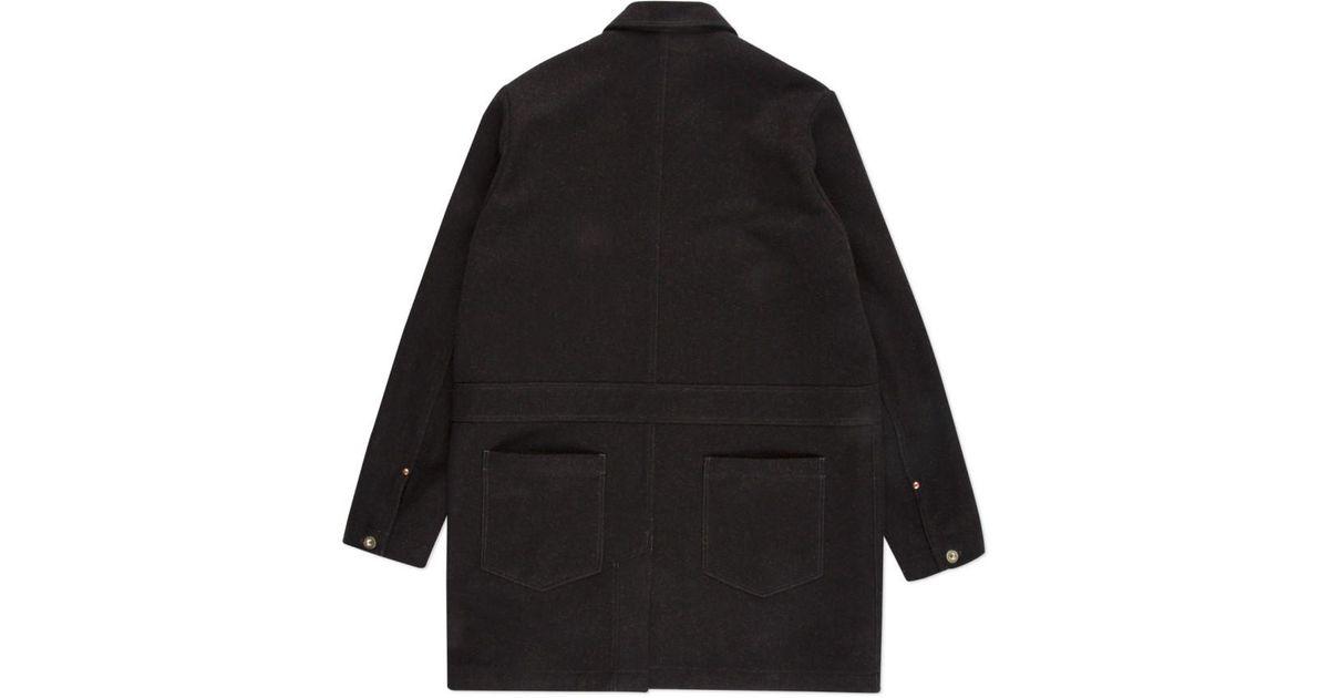 Paul smith Men's Brown Wool-blend Shop Coat in Brown for Men | Lyst