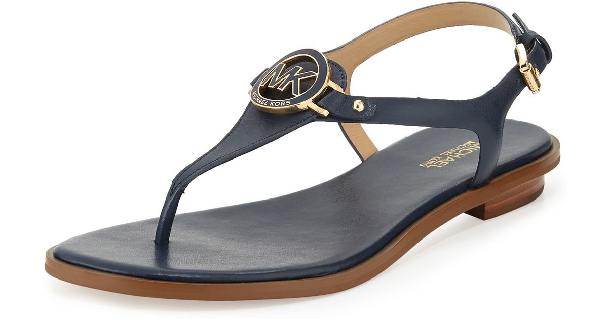 4043a63d301 Lyst - MICHAEL Michael Kors Lee Leather Sandals in Blue