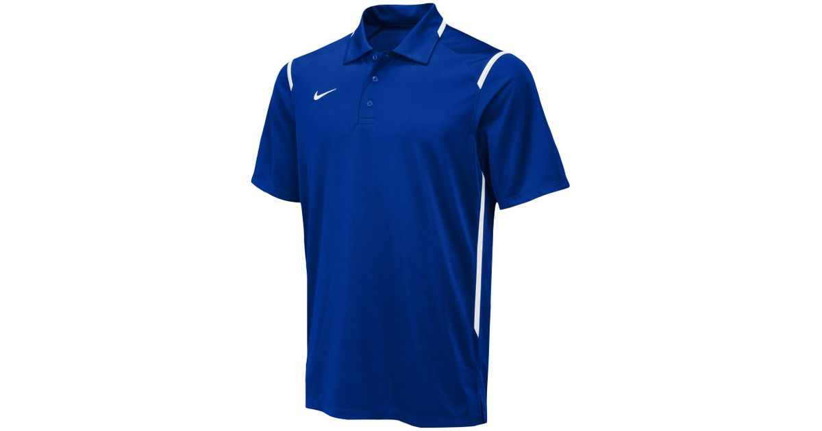 2f37a4f6a Nike Team Gameday Polo in Blue for Men - Lyst