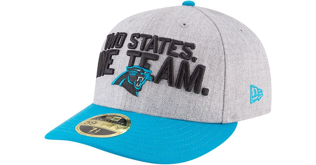 size 40 8e959 297eb KTZ Carolina Panthers Nfl 59fifty On Stage Low Profile Cap in Blue for Men  - Lyst