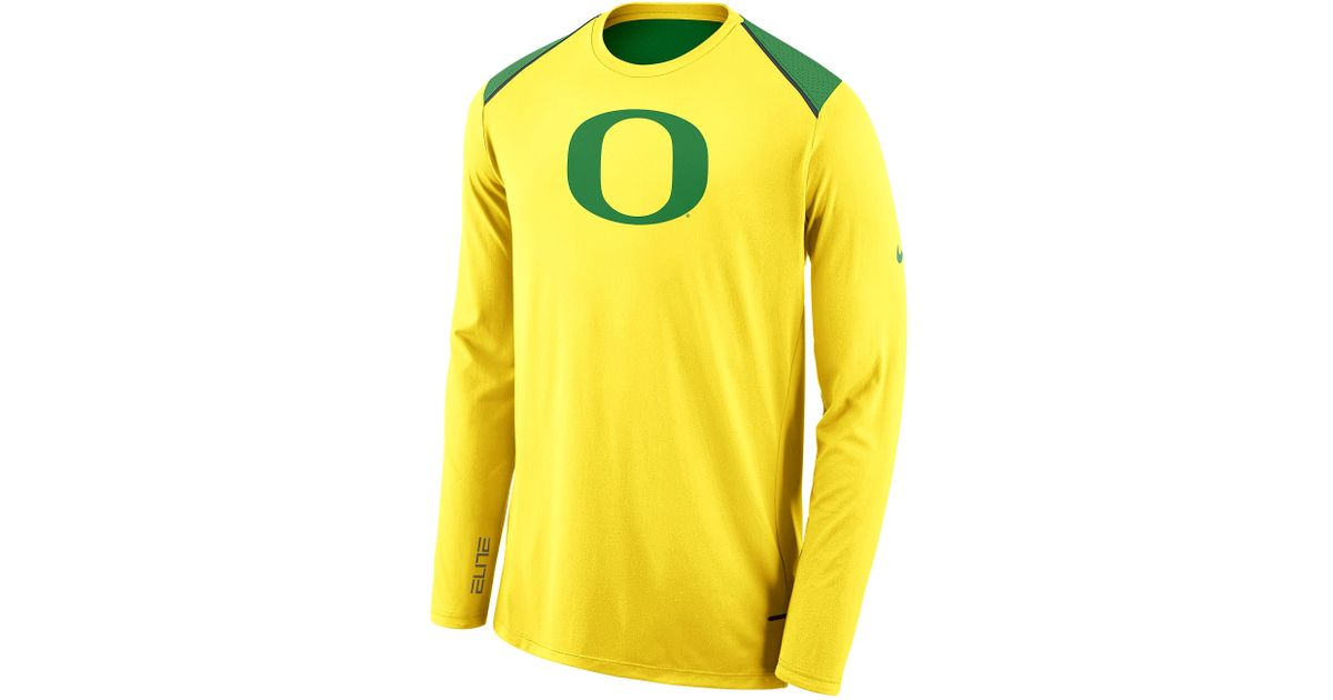 new arrival 611fc c8af5 Nike - Yellow Oregon Ducks College L/s Shooter Shirt for Men - Lyst