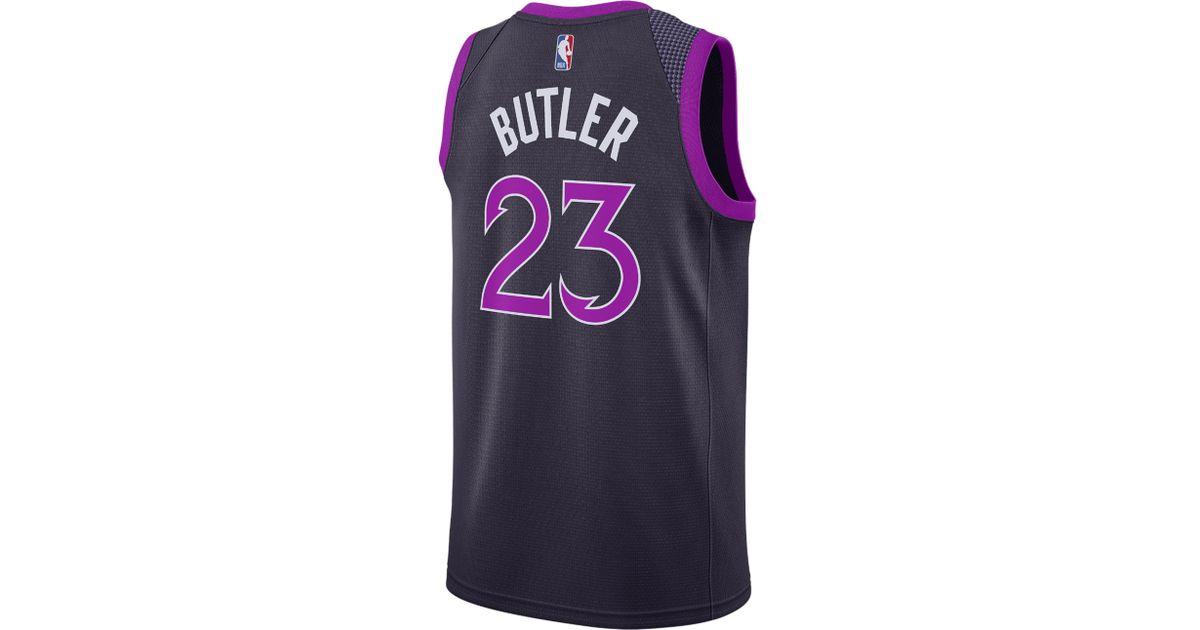on sale 986d5 98917 Nike - Purple Jimmy Butler Nba City Edition Swingman Jersey for Men - Lyst
