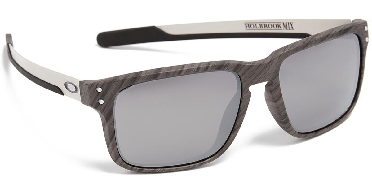16a5fcaba361 Oakley Holbrook Woodgrain Prizm Sunglasses in Metallic for Men - Lyst