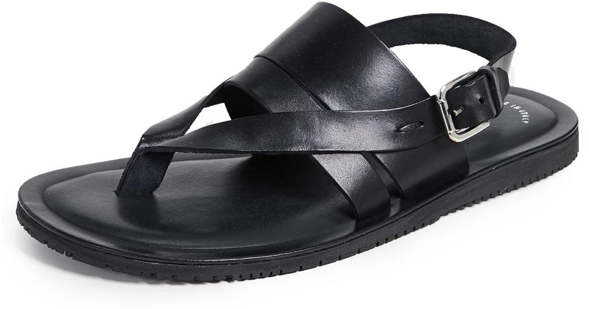 Kenneth Ist Cole Lyst Sandals Black For Reel Men Leather EDH2I9