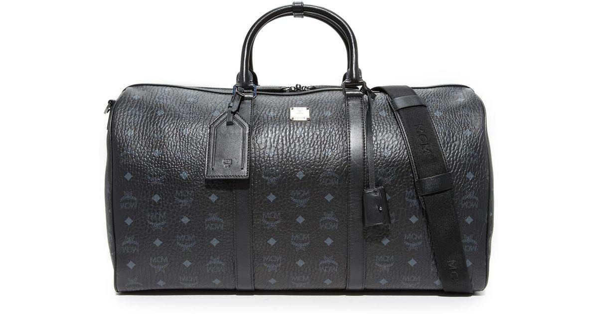 c47d24ef7 MCM Visetos Large Duffel Bag in Black for Men - Lyst