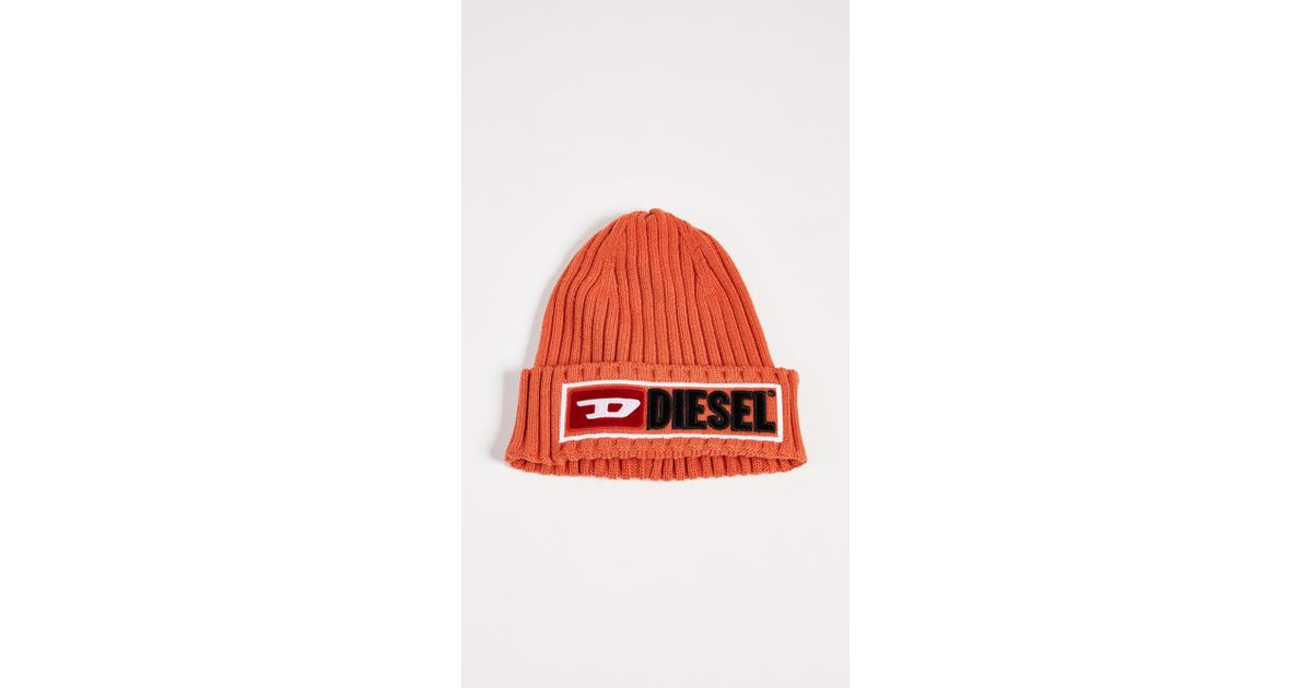 DIESEL K-coder-b Cap in Orange for Men - Lyst e386e56692bf