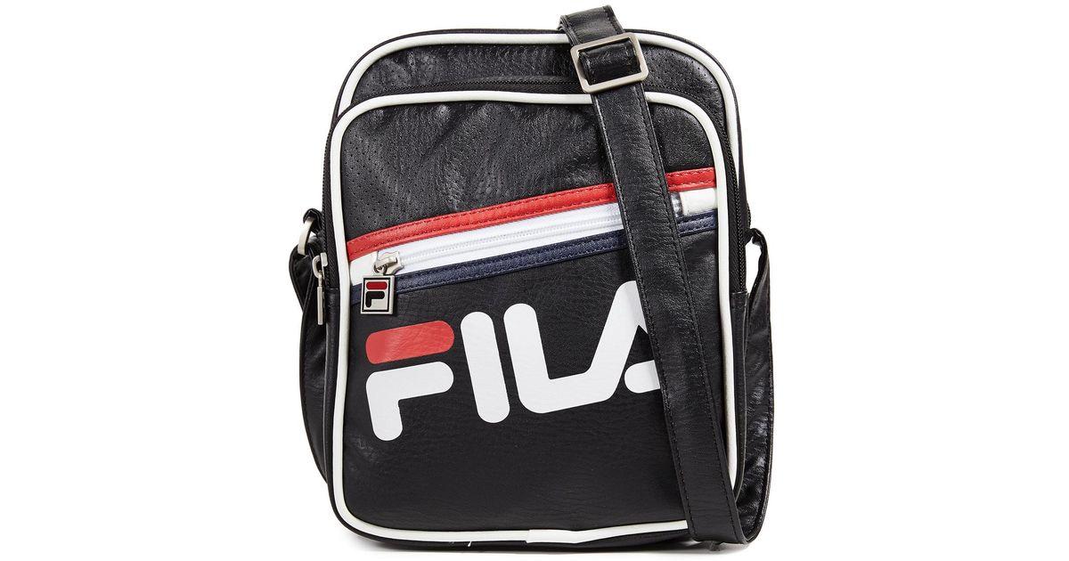 ac2bb9051 Fila Buster Shoulder Bag in Black for Men - Lyst