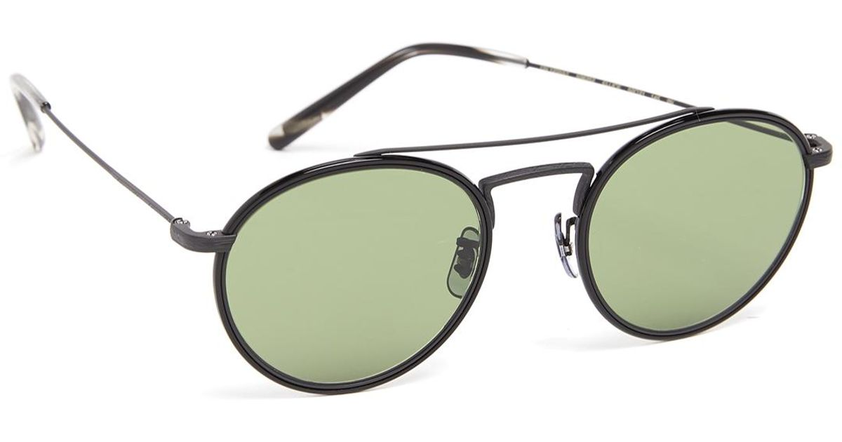66e4753b34b5 Oliver Peoples Ellice Sunglasses in Green for Men - Lyst