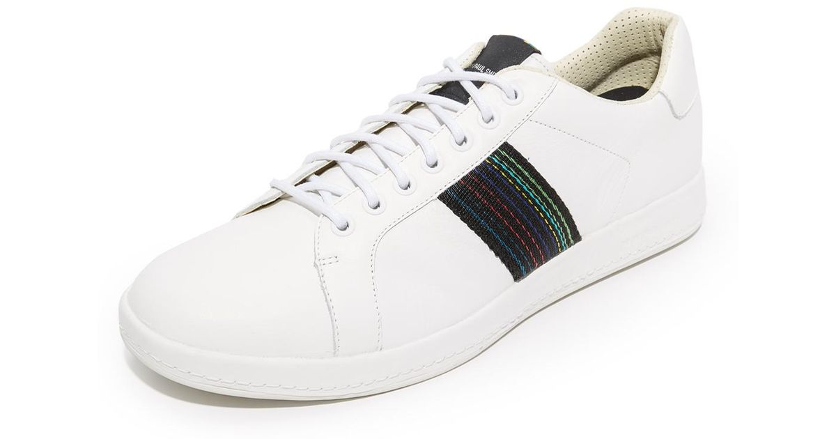 06ade690db2 PS by Paul Smith Lapin Stripe Sneakers in White for Men - Lyst