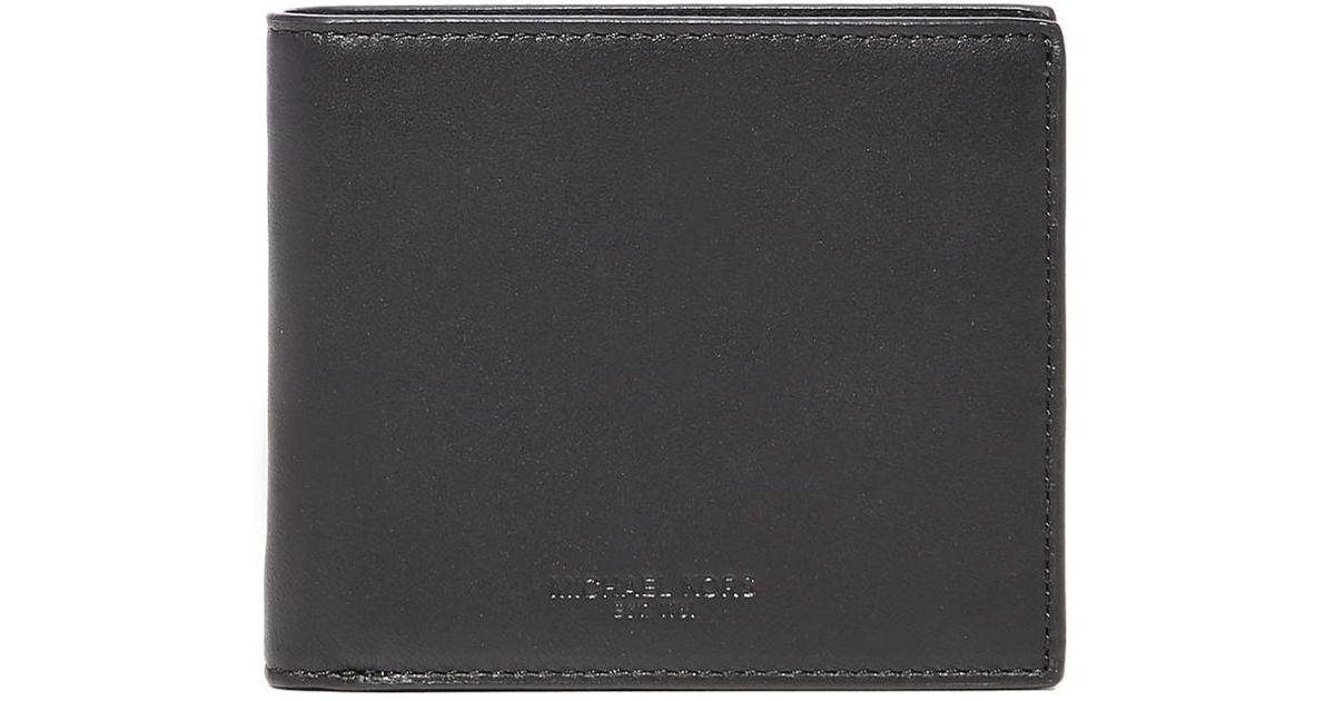 402f79d938998b Michael Kors Odin Leather Billfold in Black for Men - Lyst