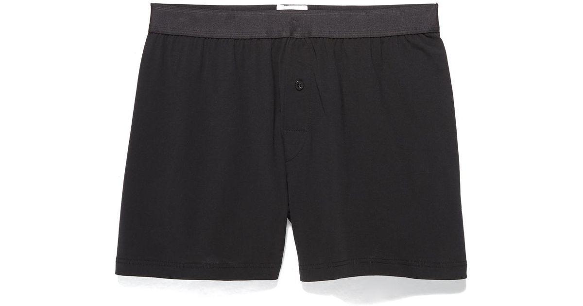 b0b439df1ba2 Lyst - Sunspel Superfine Cotton One Button Boxer Shorts in Black for Men