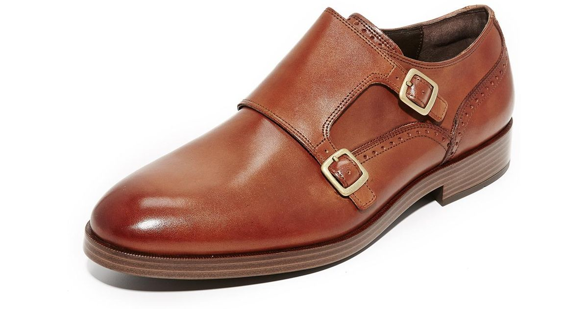 a52d6d06c43 Lyst - Cole Haan Harrison Grand Double Monk Straps in Brown for Men