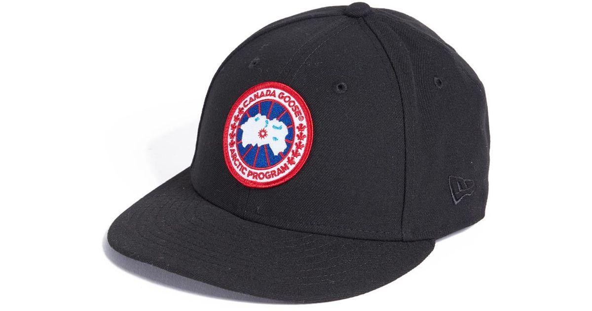ee9ec074fc5 ... coupon code for lyst canada goose x new era cap in black for men 6eef9  7d158