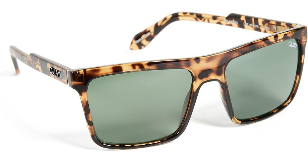 58f7fc8968 Quay Let It Run Sunglasses for Men - Lyst