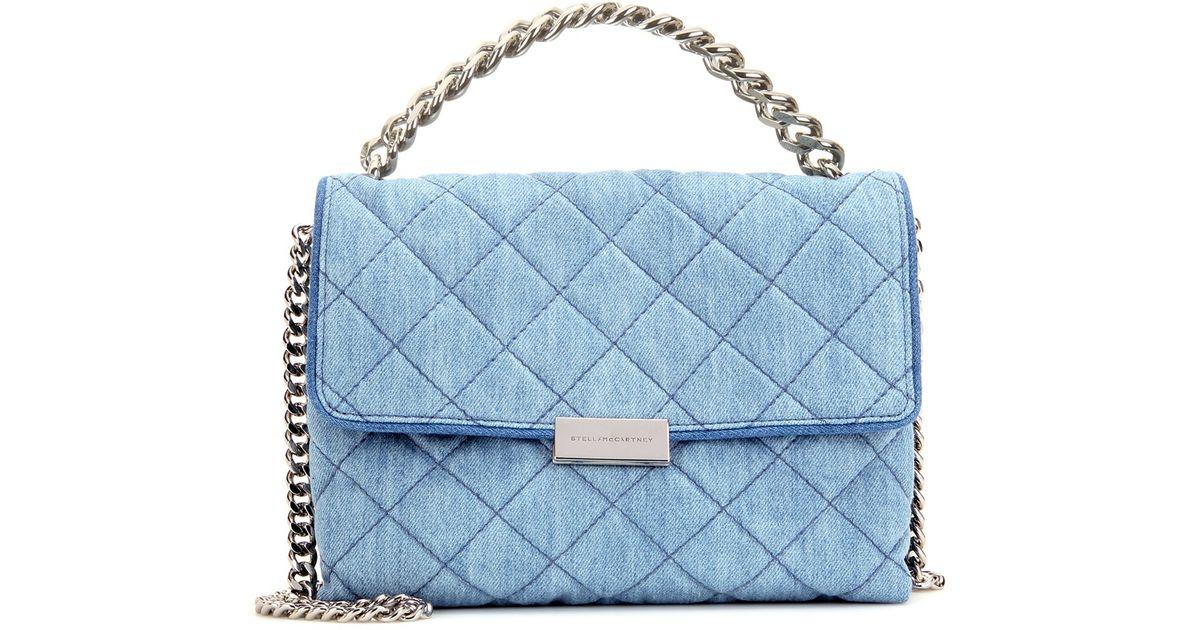 Lyst - Stella McCartney Soft Beckett Small Quilted Denim Shoulder Bag in  Blue caac8712887c7