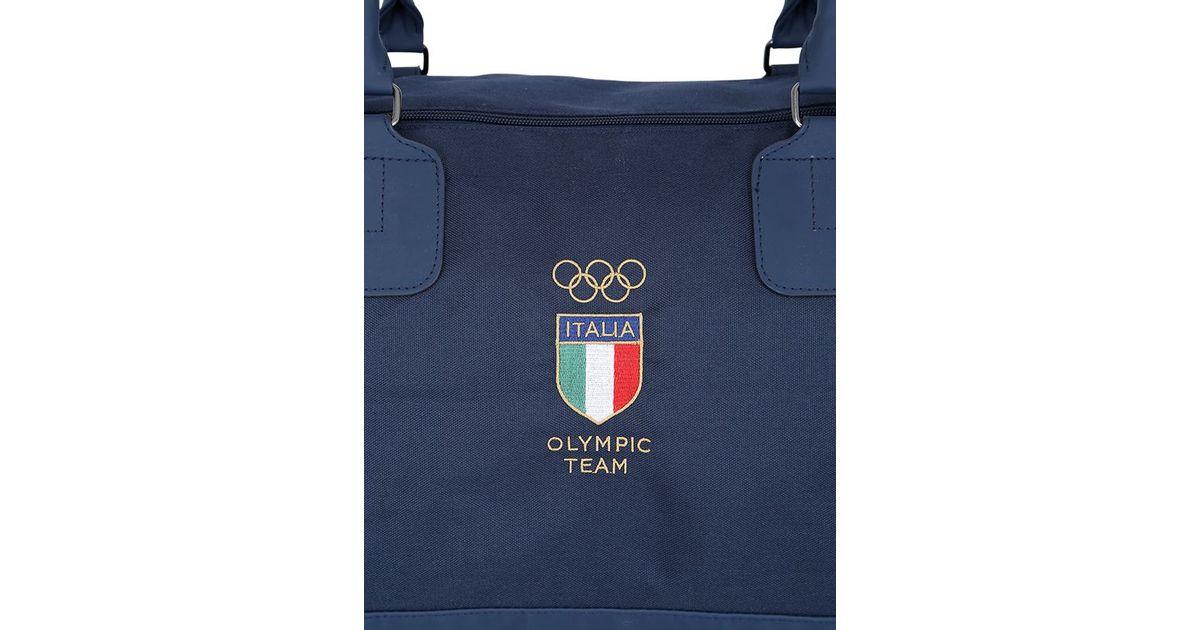 00ccc70e26f1 EA7 Italian Team Smart Duffle Gym Bag in Blue for Men - Lyst
