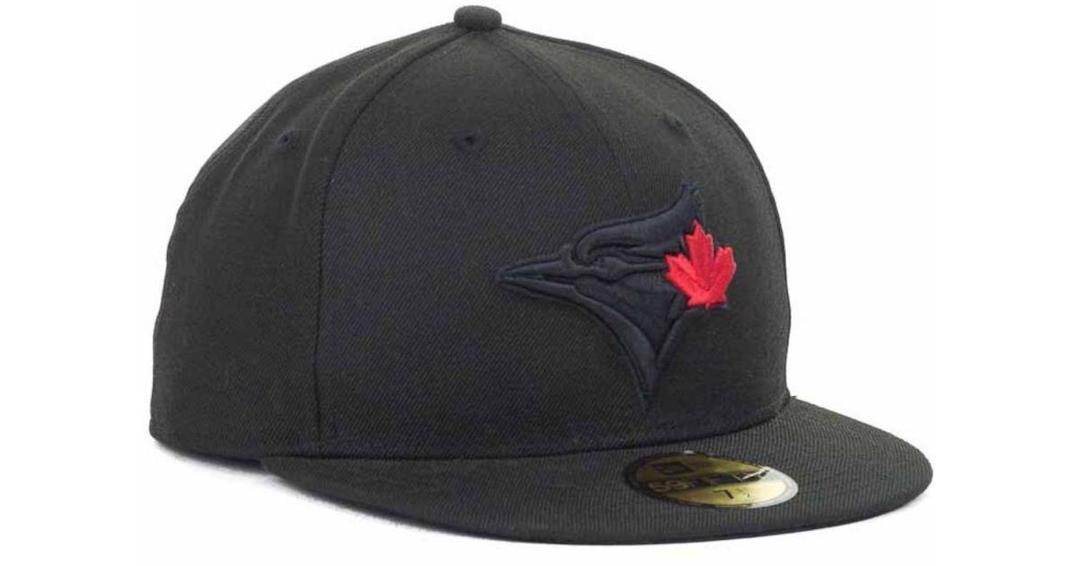 cheap for discount e98cc 8950c KTZ Toronto Blue Jays Mlb Black On Black Fashion 59fifty Cap in Black for  Men - Lyst