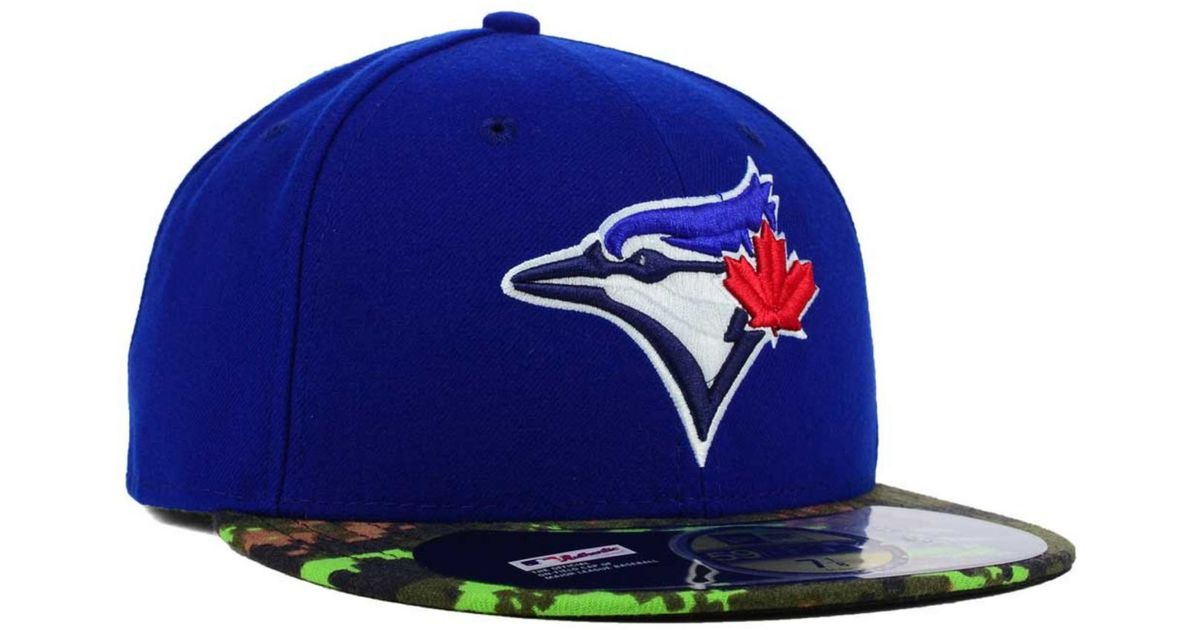 official photos a1c07 72c61 ... black 84383 6425d  purchase lyst ktz toronto blue jays memorial day  stars and stripes 59fifty cap in green for