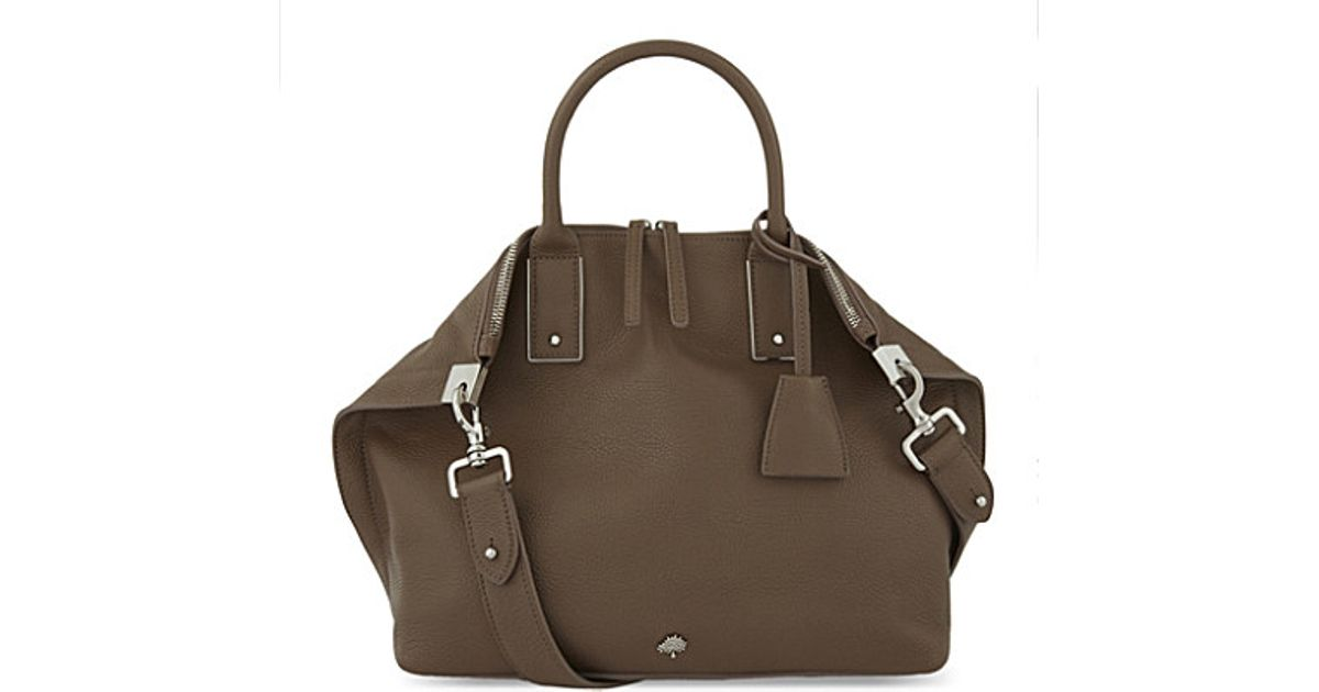 ... canada mulberry alice small leather shoulder bag in brown lyst aa9ff  79a6d 6f1e3fdbcdca4