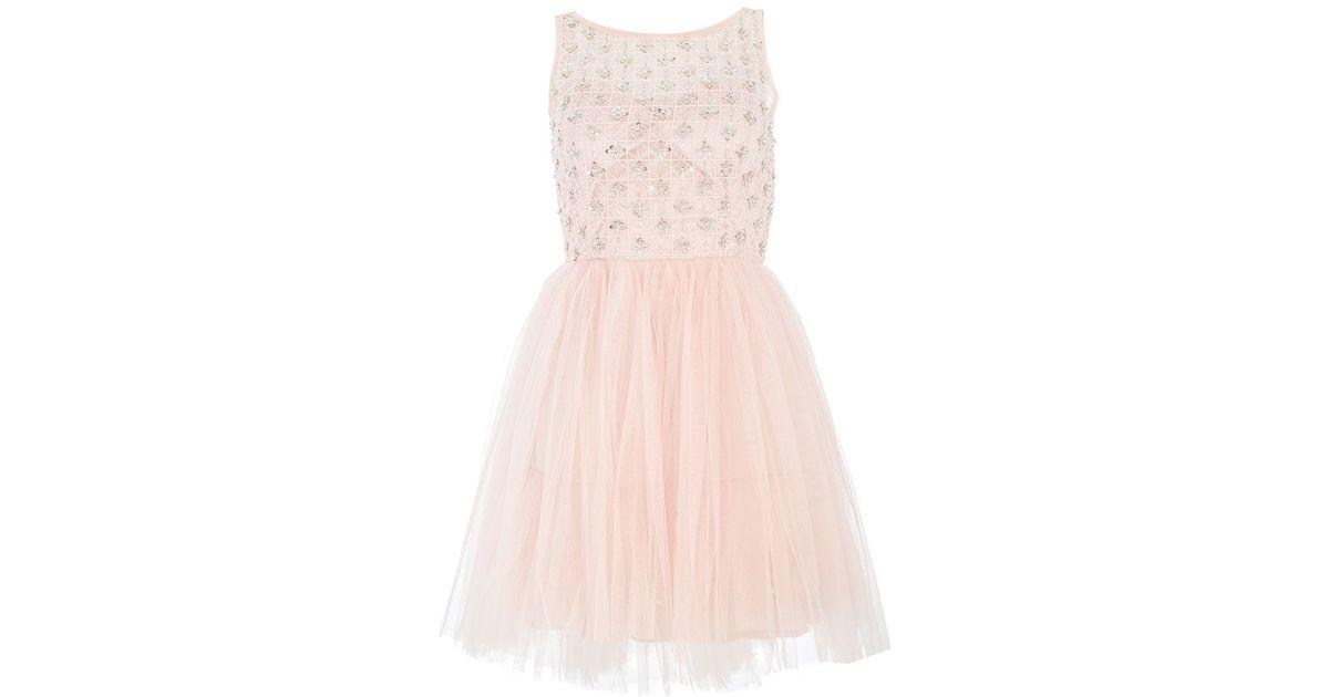 Quiz Mesh Prom Dress in Pink - Lyst