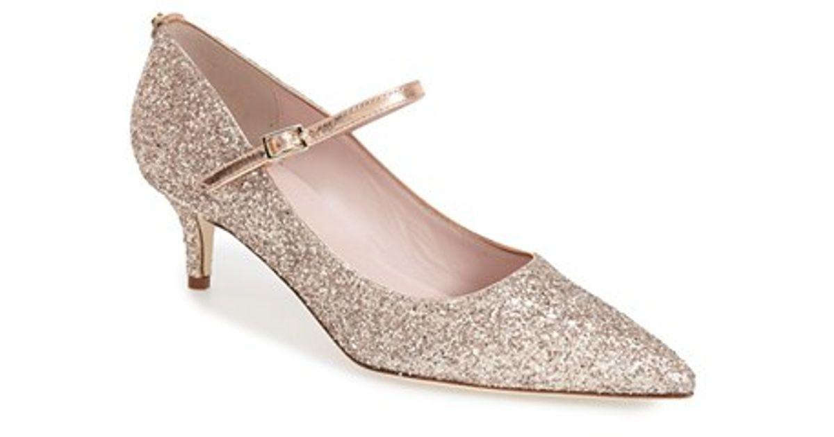 9b233246a0ac Lyst - Kate Spade  Millie  Kitten Heel Mary Jane Pump in Pink