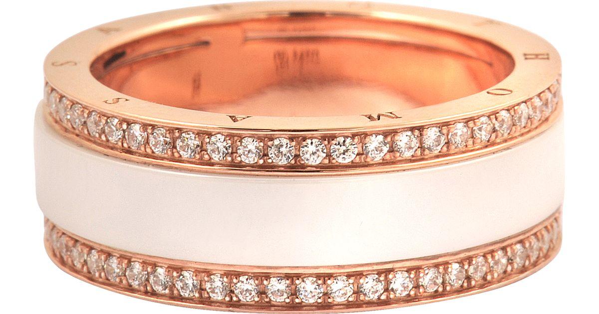 thomas sabo rose gold sterling silver ring in pink lyst. Black Bedroom Furniture Sets. Home Design Ideas