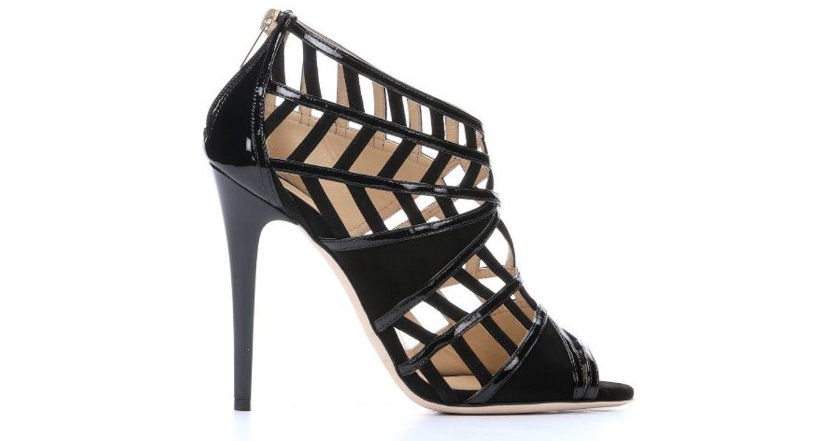 Jimmy Choo Patent Leather Cutout Sandals visit new cheap price ONJafyjBd2