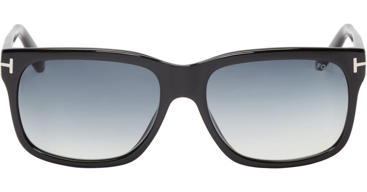 04f3844058 Tom Ford Black Gradient Tf376 Barbara Sunglasses in Black for Men - Lyst