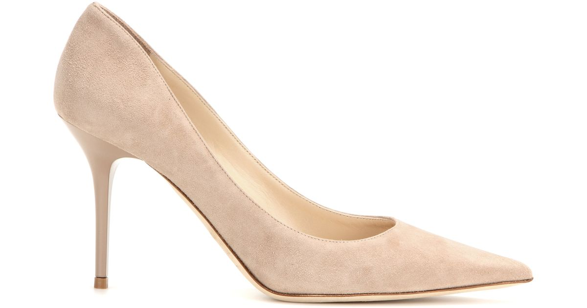 8f2198b795db Lyst - Jimmy choo Agnes Suede Pumps in Natural