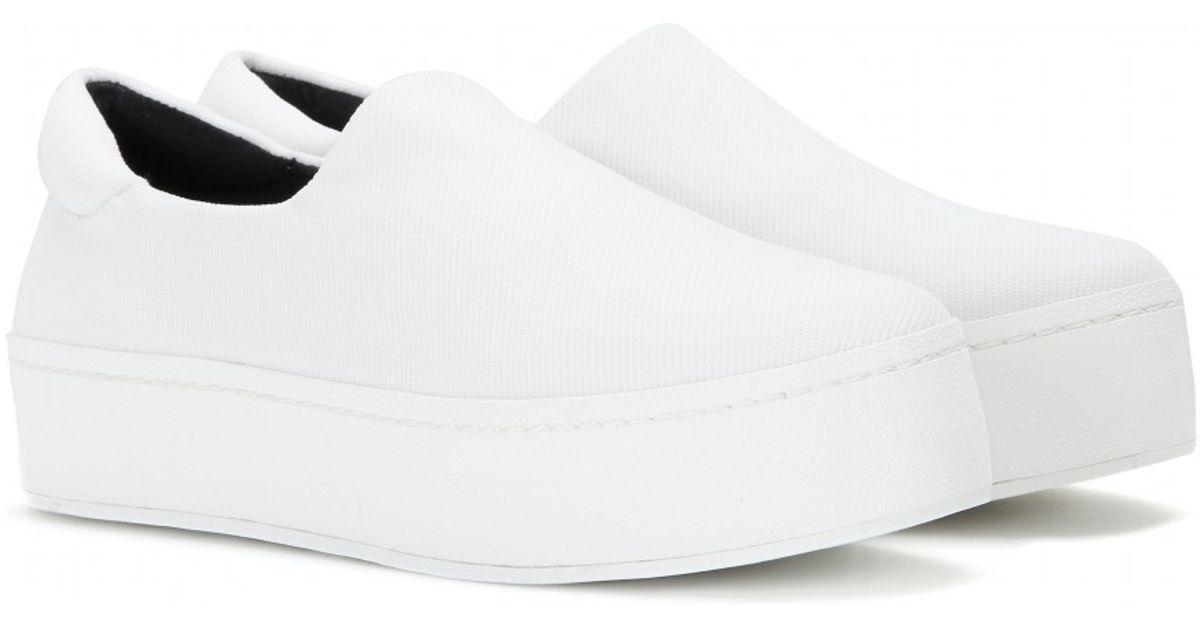 9f946fda08 Opening Ceremony Platform Slip-On Sneakers in White - Lyst