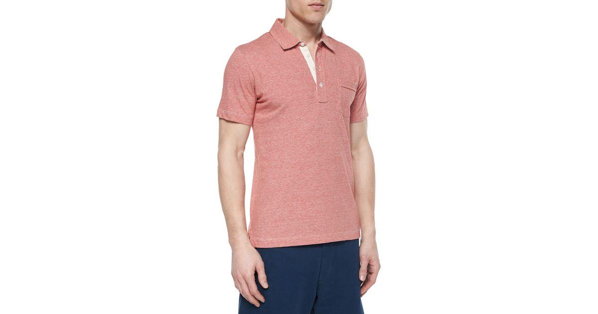 Billy Reid Pensacola Jersey Polo Shirt In White For Men Lyst