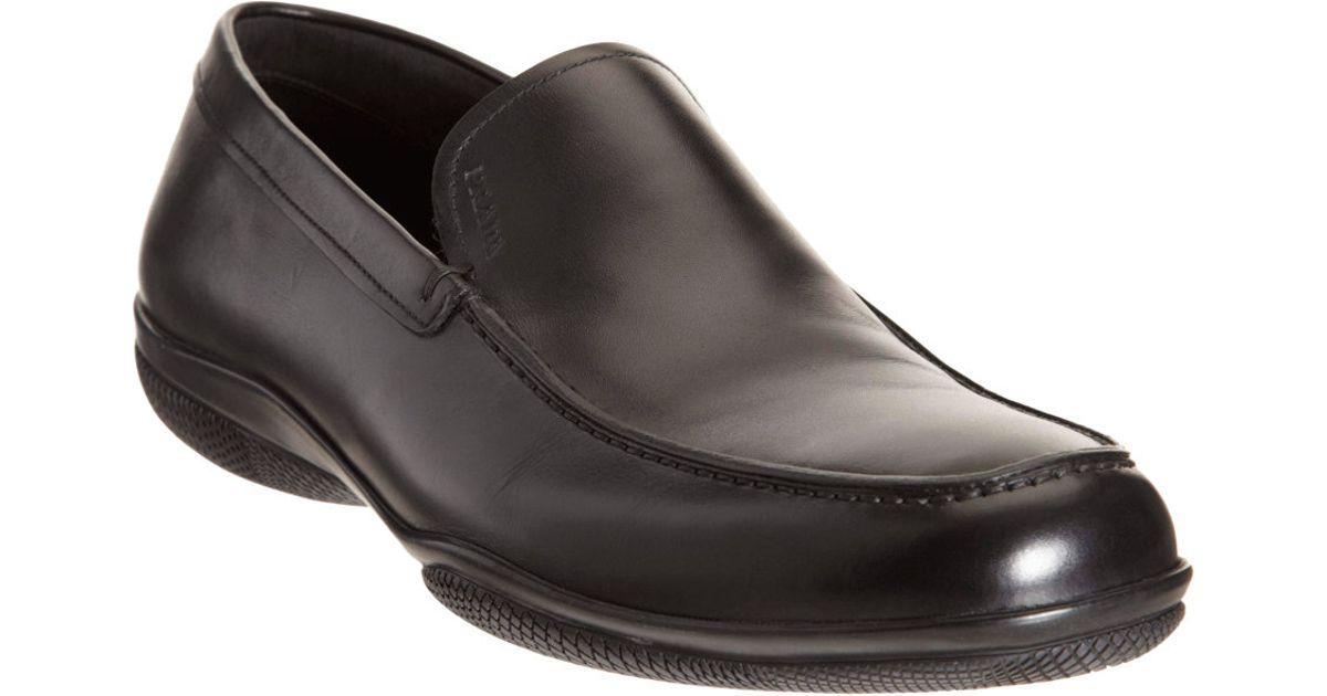 Mens Leather Venetian Loafers Prada zPvdGzY