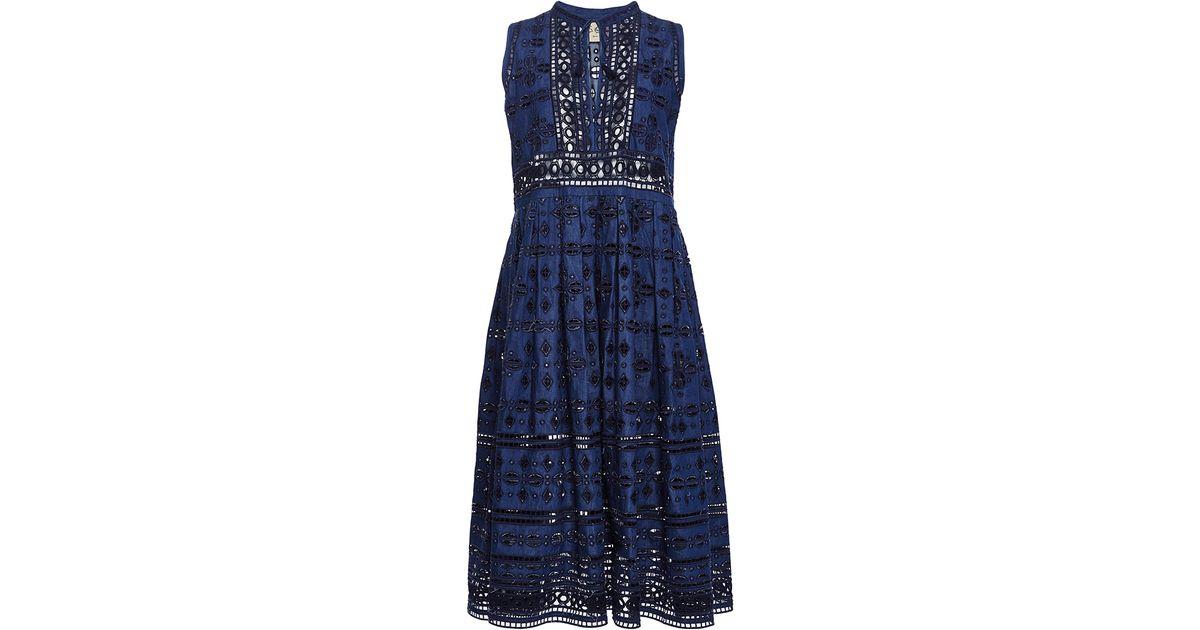 Eyelet Midi Dress