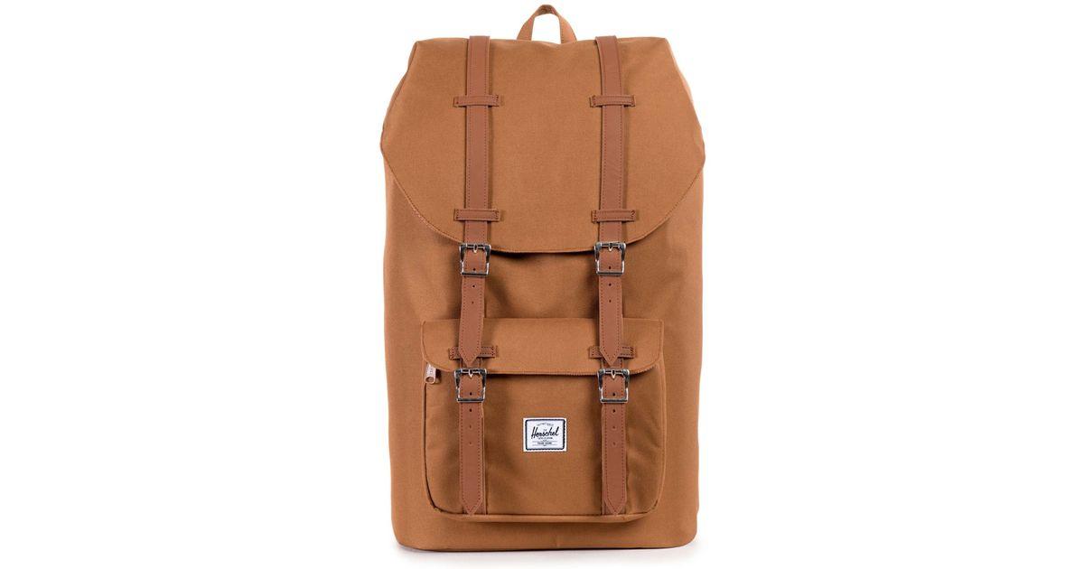 herschel supply co little america backpack tan in beige for men camel save 7 lyst. Black Bedroom Furniture Sets. Home Design Ideas