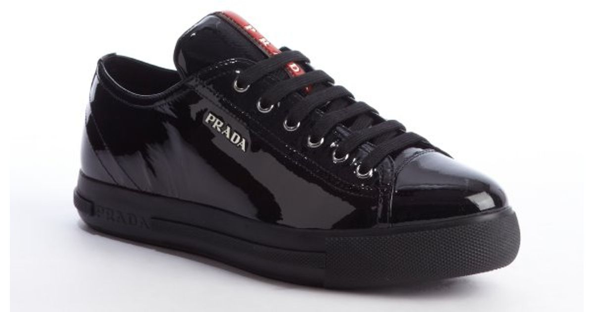 Prada Leather & Canvas Sneakers